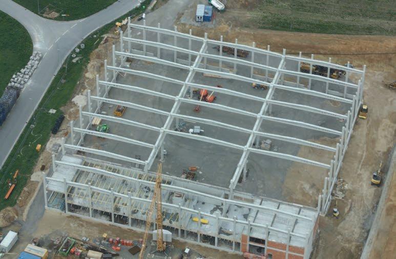 Neubau einer komplexen Produktionshalle