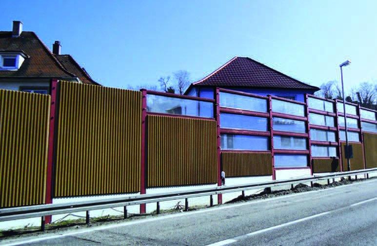 """Lärmschutzwandprojekt OD Bruchsal """"Hagelkreuz und Schattengraben"""""""
