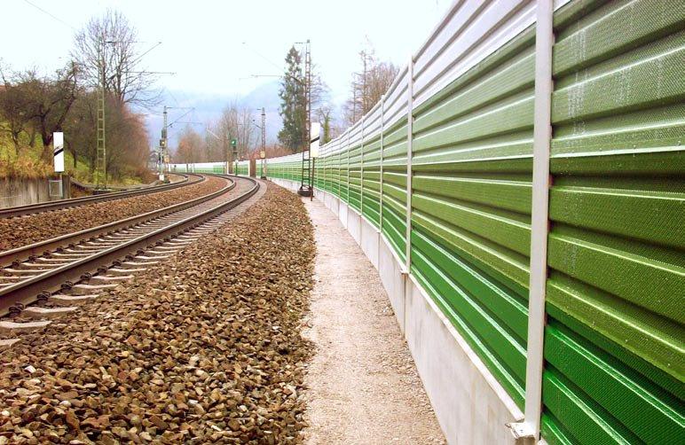 Lärmschutzwände an der Bahnstrecke Oberaudorf – Niederaudorf
