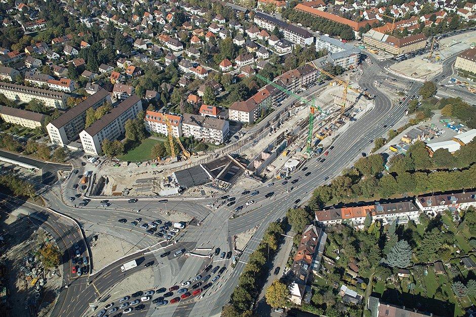 Untertunnelung des Luise-Kiesselbach-Platzes