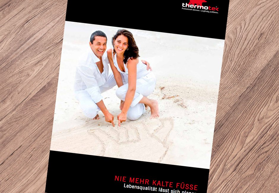 """Thermotec brochure """"No more cold feet"""""""