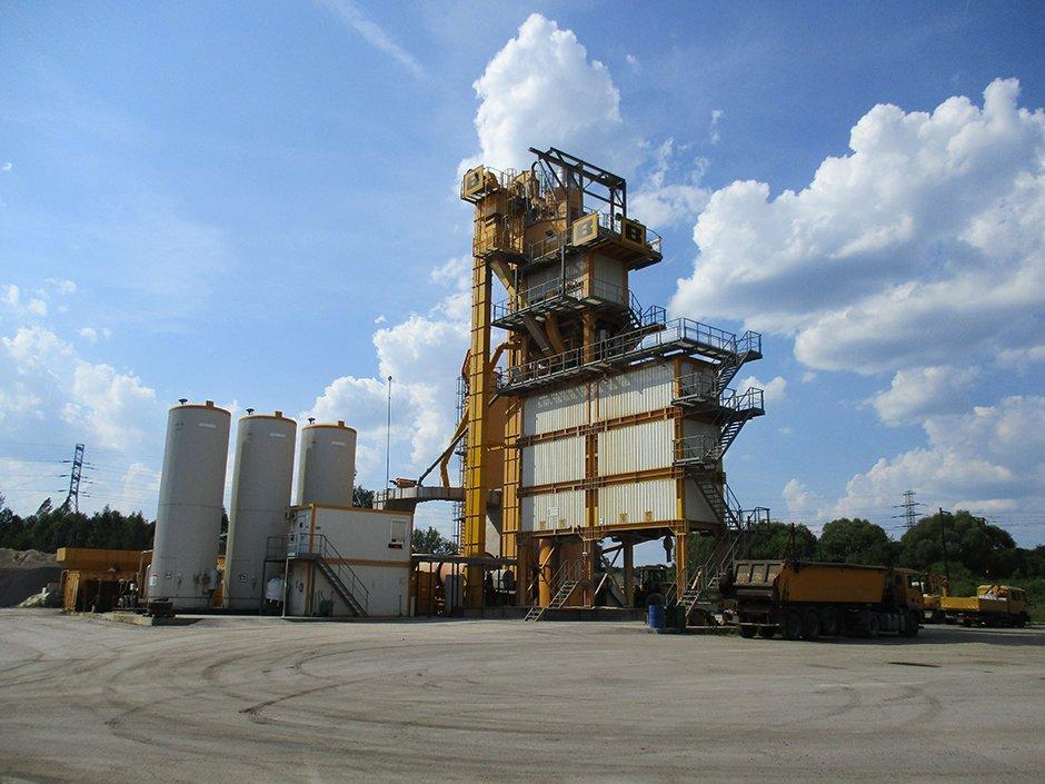 Chrzanów asphalt mixing plant